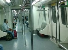 Delhi metro was luckily not overcrowded!