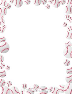Printable Baseballs Border Use The In Microsoft Word Or Other Programs For Creating Flyers