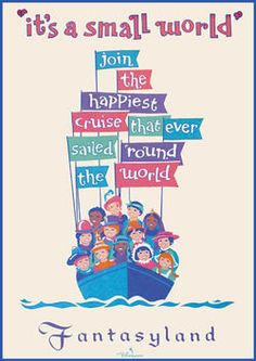 It's a Small World travel poster
