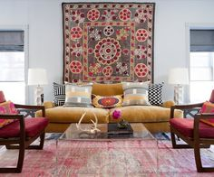 A Warm, Colorful Modern Family Apartment