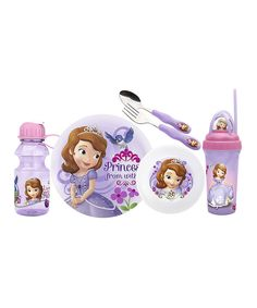 Love this Sofia Six-Piece Mealtime Set by Sofia the First on #zulily! #zulilyfinds