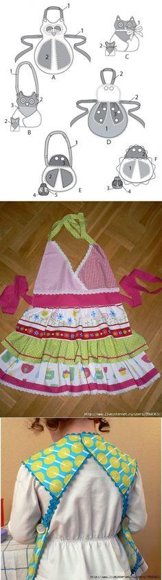 Фартуки для детей. Aprons for Children. ~ HandMadiya.com