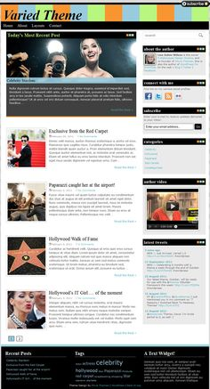 vibrant colorful blog style premium WordPress theme