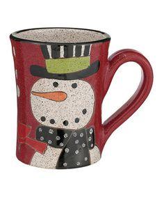 Love this Snowman Pottery Mug on #zulily! #zulilyfinds