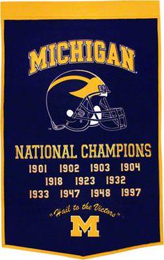Michigan Wolverines -Football- Dynasty Banner