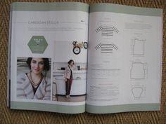 Stella cardigan knitting pattern in La Maison Victor Jan-Feb 2015