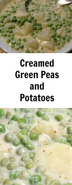 Potatoes Creamed Potatoes & Peas Recipe My grandmother would add diced ham to her creamed peas and potatoes.Creamed Potatoes & Peas Recipe My grandmother would add diced ham to her creamed peas and potatoes. Side Dish Recipes, Vegetable Recipes, Vegetarian Recipes, Cooking Recipes, Healthy Recipes, Healthy Snacks, Cooking Vegetables, Cooking Games, Cooking Videos