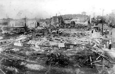 Florida Memory - View of devastation from fire - Lakeland, Florida