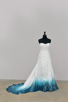 Bridal Gowns Colored by Taylor Ann Art - Gallery Pretty Prom Dresses, Ball Dresses, Cute Dresses, Ball Gowns, Formal Dresses, Ombre Wedding Dress, Blue Wedding Dresses, Wedding Gowns, Wedding Ceremony