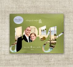 """christmas card holiday greetings family picture card """"joy""""  #couples-first-christmas  @Cardtopia Designs"""