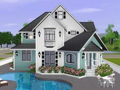 gabi89's White Villa 2 //// preciosa casa para tus sims ^^ con alberca