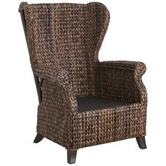 Graciosa Mocha Brown Wicker Wing Chair