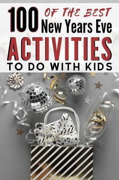 Looking for something fun to ring the New Year in with Your Kids? Make it memorable with 100 of the Best New Years Eve Activities to do With Your Kids! New Years With Kids, Family New Years Eve, New Years Eve Games, Holidays With Kids, New Years Eve Party, Holidays And Events, Winter Holidays, New Year's Eve Activities, Creative Activities For Kids