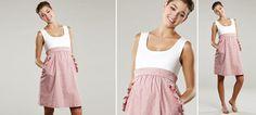 Seersucker Empire-Kleid aus der Kategorie Kleider Kurzarm von Mamarella - Details