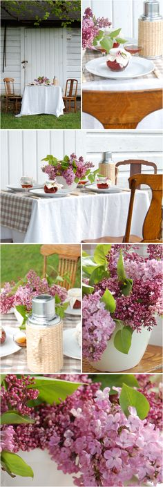 Lilacs #wedding #ideas @Koyal Wholesale  Pauline- im not sure if they are in season though for your wedding but i like the country feel
