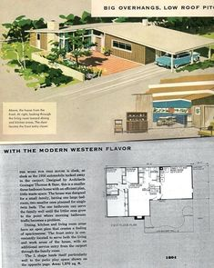 Mid Century Modern Ranch House Design Plans Awesome New Best Images About Atomic On Of Hous Mid Century Ranch, Mid Century House, Modern Ranch, Mid-century Modern, The Plan, How To Plan, Modern House Floor Plans, Midcentury Modern House Plans, Vintage House Plans