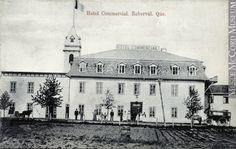 Hôtel Commercial, Roberval, région du Lac-Saint-Jean, QC, vers 1910 1905-1914, 20e siècle Encre sur papier monté sur carton