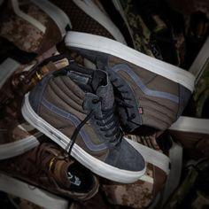 Dropping tomorrow Vans Syndicate X DEFCON - Sk8 Hi Notchback Pro, Mas Grey.  (Maritime Assault Suit) Navy Seals #vans #syndicate
