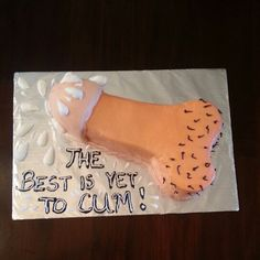 Penis cake for a bacheloretre party! Thanks you tube for showing me how to make it without a pan!!