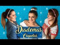 Como hacer Diademas o Tiaras con Cuentitas, perlitas y brillantes :: ChuladsCreativas - YouTube