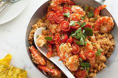 prawn quinoa rissotto