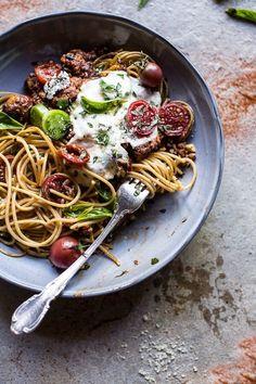 20 Minute Heirloom Tomato Basil Chicken Parmesan Bolognese   halfbakedharvest.com @hbharvest