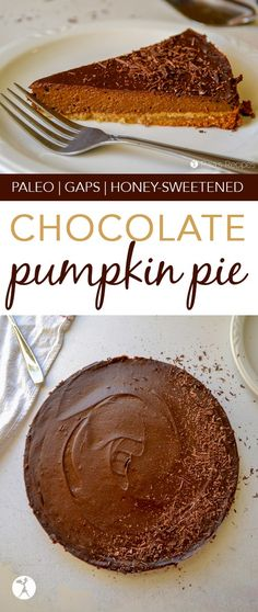 How about chocolate? This Chocolate Pumpkin Pie is for you. It's paleo and GAPS-friendly and perfect for holiday get-togethers. Chocolate Pumpkin Pie, Chocolate Paleo, Paleo Pumpkin Pie, Pumpkin Recipes, Chocolate Desserts, Pumpkin Pies, Chocolate Tarts, Paleo Sweets, Paleo Dessert
