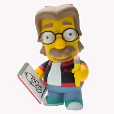 Matt Groening em toy art.  Sai US$50 na Kidrobot, e eles não entregam no Brasil (por questões de licenciamento).