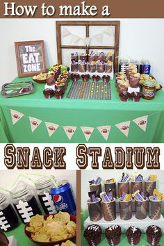 Check out these ideas for the perfect way to display your snacks at a football party. Use the tutorial to help you create a snack stadium that is fun and easy to make! Football Party Foods, Football Themes, Football Food, Healthy Superbowl Snacks, Quick Snacks, Perfect Food, Perfect Party, Going Vegetarian, Vegetarian Breakfast