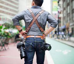 Holdfast Money Maker | Kameragurte aus Leder | Geschenke für Fotografen | Kamerabänder für 2 Bodies | bei PhotoQueen.de