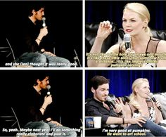 Jen talking about Colin's pumpkin carving and Colin talking about Jen <3 #Colifer
