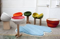 The Coiling Collection by Raw Edges. FELT FURNITURE COLLECTION
