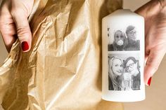 Tip na osobní vánoční dárek: Věnujte svíčku s fotkou! - Proženy Xmas Crafts, Drinks, Decor, Luxury, Drinking, Christmas Crafts, Drink, Decorating, Dekoration