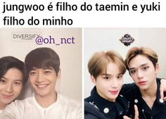 Jungwoo e Lucas são filhos do Taemin, Shinee, Nct 127, Fanfic Kpop, Hey Bro, Kpop Memes, Text Memes, Drama Korea, Pop Songs