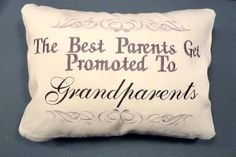 Decorative Embroidered Grandparents Pillow by JulieButlerCreations, $28.50