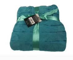 TEAL SOFA CORAL THROW SOFT SOFA THROW BLANKET IN DOUBLE SIZE 150 X 200CM