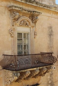 Chateau window and balcony somewhere in France.  Location unknown.