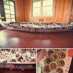 "This is the third ""Camp Wedding"" I've seen with a canoe full of beverages.  Had to pin."