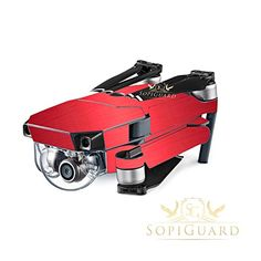 SopiGuard Brushed Red Precision EdgetoEdge Coverage Vinyl Skin Controller Battery Wrap for DJI Mavic Pro >>> You can find more details by visiting the image link.