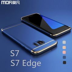 For Samsung S7 edge case for Samsung S7 case MOFi back cover hard coque for galaxy s7 edge cover s7 capa funda luxury gold blue ** Offer can be found by clicking the image