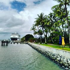Bit of a grey day as the #pacificaria is docked in #cairns #australia #cruise  #cruising #greatbarrierreef #northqueensland #moreplacestosee by moreplacestosee http://ift.tt/1UokkV2