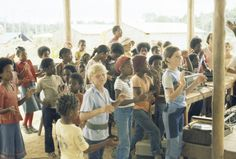 Title: Peoples Temple children performing, Jonestown, Guyana Creator/Contributor: Unknown Date: circa Contributing Institution: California Historical Society Cult Of Personality, Two Decades, Weird World, Historical Society, Change The World, Kids Learning, Equality, Temple, Acting