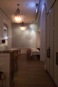 Deco in line with the fine and fresh food created by Australian chef Skye Gyngell