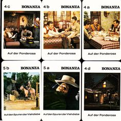 1960's BONANZA Western TV Show Card Set From Germany | Entertainment Memorabilia, Television Memorabilia, Other Television Memorabilia | eBay!