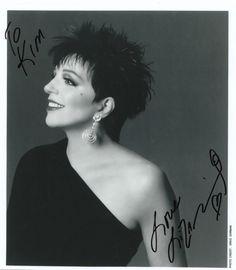 Liza Minelli Cabaret Star Signet Authentic Photo Authographed w COA | eBay
