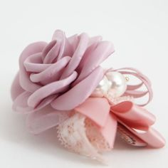 Handmade Meshed Rose Flower Lace Bow Double Prong Alligator Clip Hair Accessory #Handmade Lace Bows, Diy Hair Bows, Ponytail Holders, Hair Accessory, Diy Hairstyles, Scrunchies, Hair Clips, Rose, Flowers