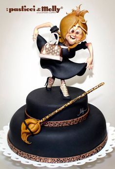 Looks like a couture version of Madame Mim from The Sword in the Stone - beautiful cake