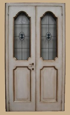 Reproductions of antique italian painted doors - Porte del Passato Italian Doors, Painted Doors, Miniature Dolls, Painted Furniture, Craftsman, Tall Cabinet Storage, Shabby Chic, Cottage, Antiques