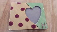 Heart Picture Frame Painted By Customer #pottery #colormemine #boulder