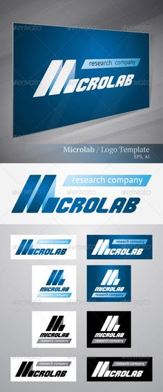 """Microlab  #GraphicRiver        Details:  CMYK colors  Vector layered EPS&Ai files are fully editable.  Font used in editable text """"research company"""": PT Sans ( .fontsquirrel /fonts/PT-Sans) Sign """"Microlab"""" made using font Commando ( .fontsquirrel /fonts/Commando)     Created: 28November12 GraphicsFilesIncluded: VectorEPS #AIIllustrator Layered: Yes MinimumAdobeCSVersion: CS Resolution: Resizable Tags: biology #business #chemistry #computer #design #ecology #laboratory #letter #logo #medicine…"""